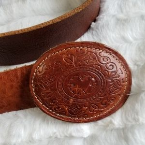 Vintage Punto Fibbia Italian genuine Leather Belt